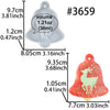 Christmas Bell Tag Resin Silicone Mold with Haning Hole, Elk