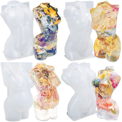 Goddess Body Epoxy Resin Silicone Mold 4-Bundle Height 3.5inch