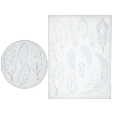 Feather Fondant Silicone Molds Set 2-Bundle 1.3-3.3inch Length