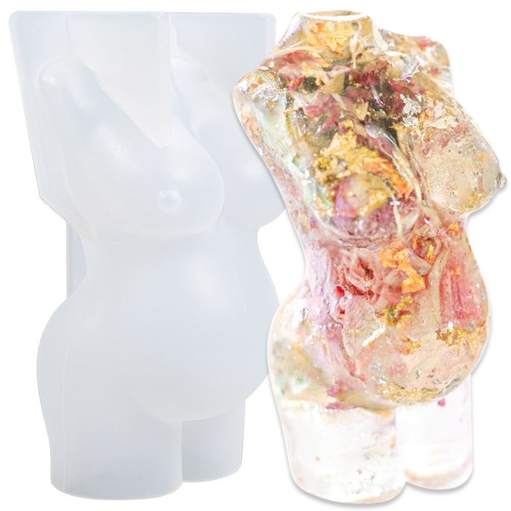 3D Body Pregnant Women Candle Mold