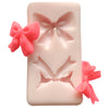 Mini Ribbon Bow Fondant Silicone Mold 2-Cavity