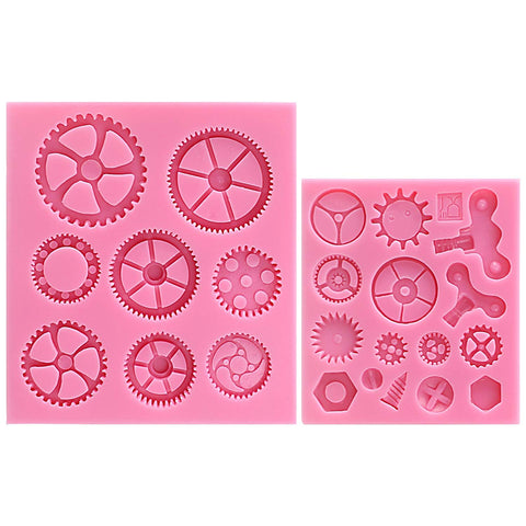 Steampunk Gears Fondant Silicone Mold Set