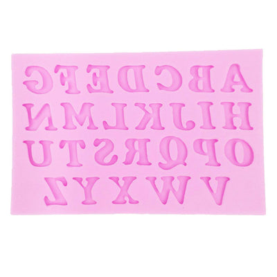 Uppercase Letters Fondant Silicone Mold