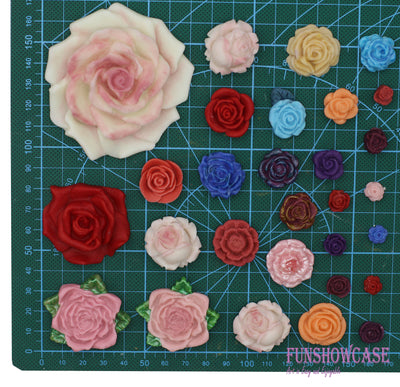 Rose Fondant Silicone Mold 3-Cavity