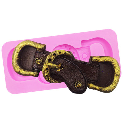 Strap Belt and Buckle Fondant Silicone Mold