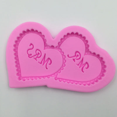 Mr & Mrs Heart Pillow Fondant Silicone Mold