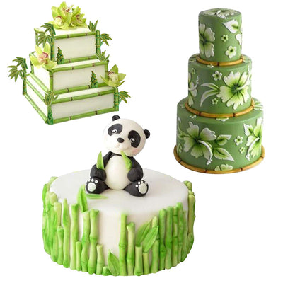 Bamboo Silicone Mold for Fondant Cake Border Decoration