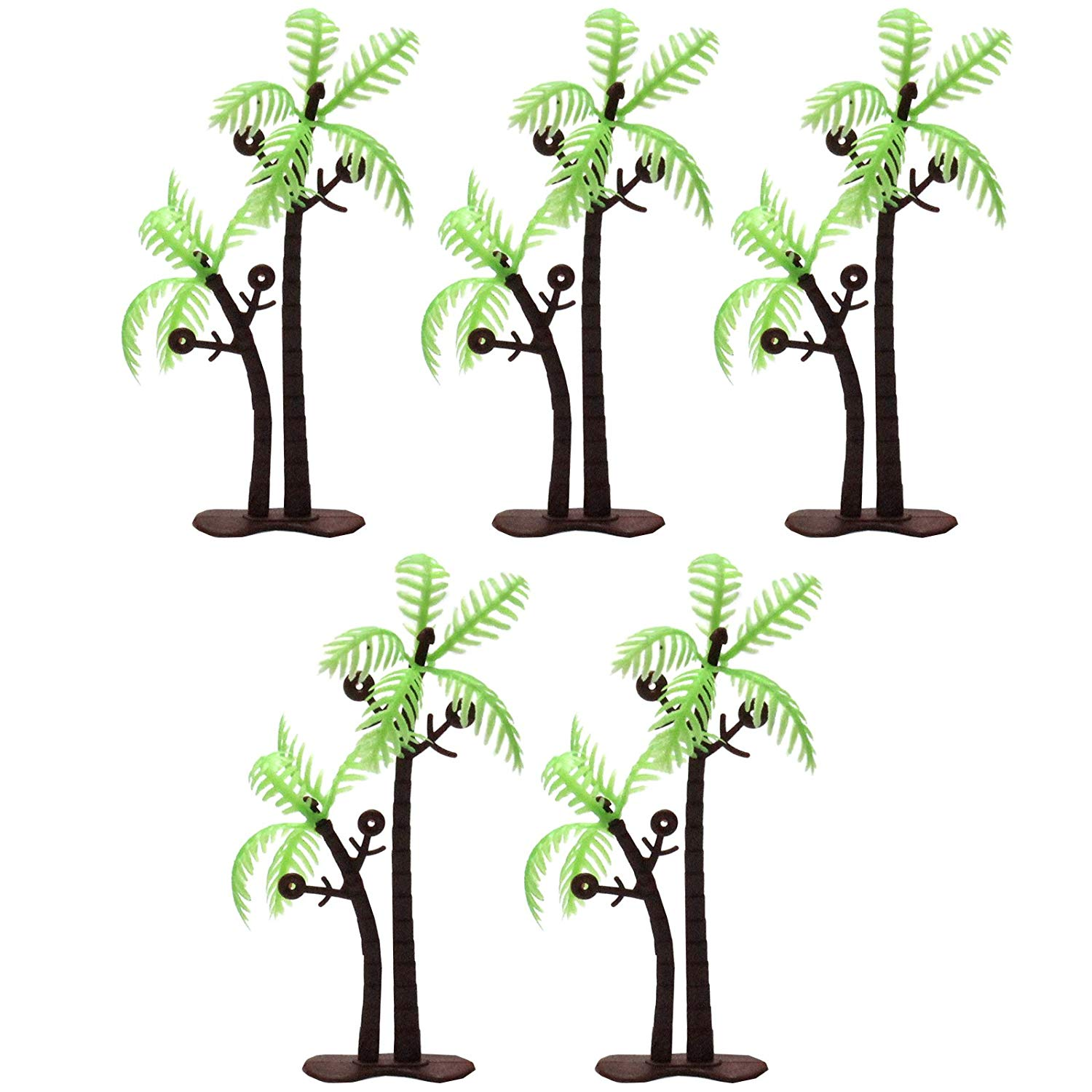 Coconut Palm Trees with Base 3inch 5-count