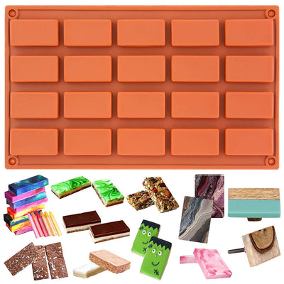 Rectangular Bar Baking Silicone Mold 20-Cavity