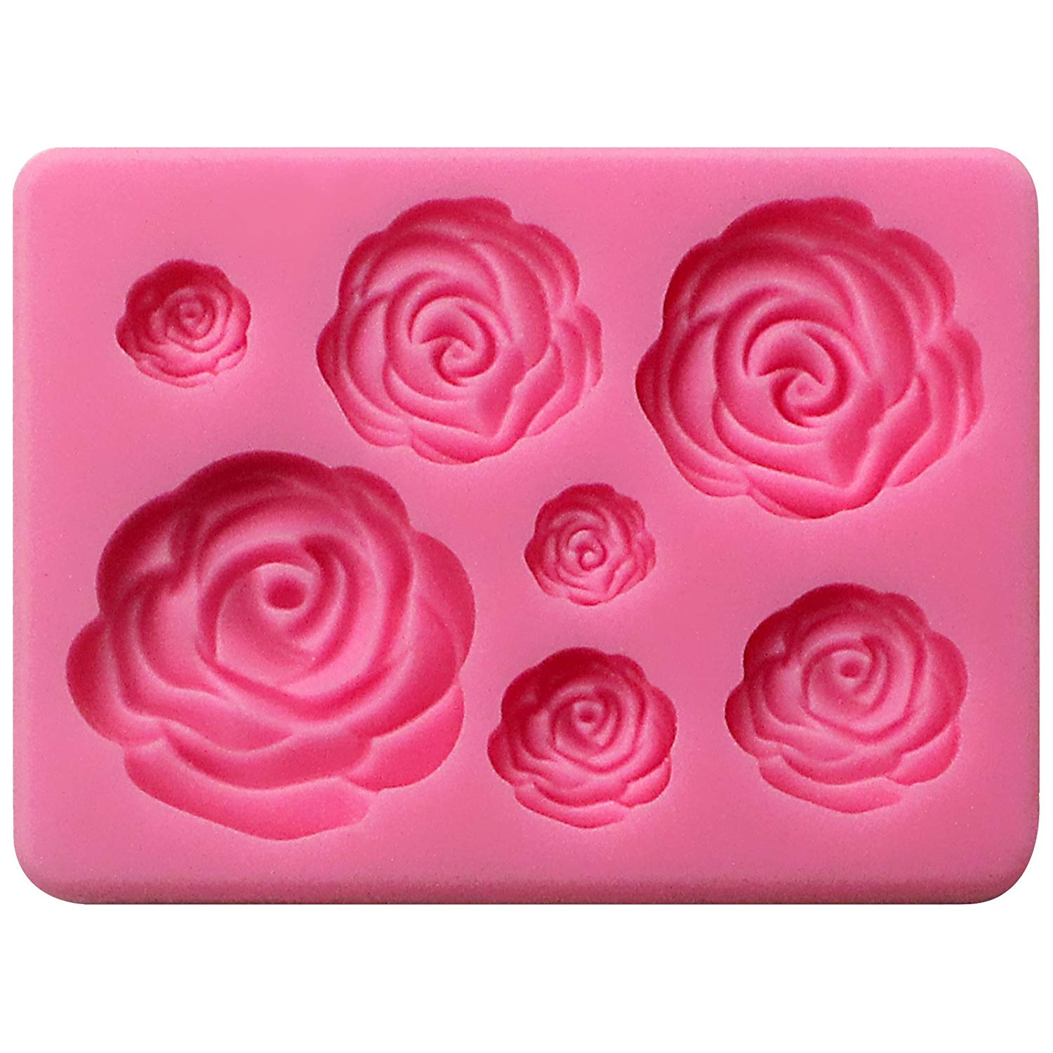 Assorted Blooming Roses Fondant Silicone Mold