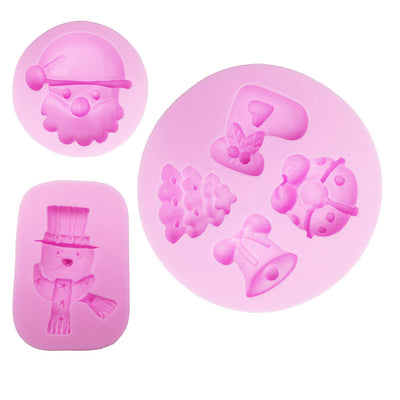 Christmas Assortment Fondant Silicone Mold Set