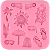 Mini Summer Beach Fondant Silicone Mold