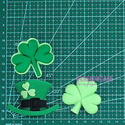 Irish Mad Hat and Shamrocks Fondant Silicone Mold