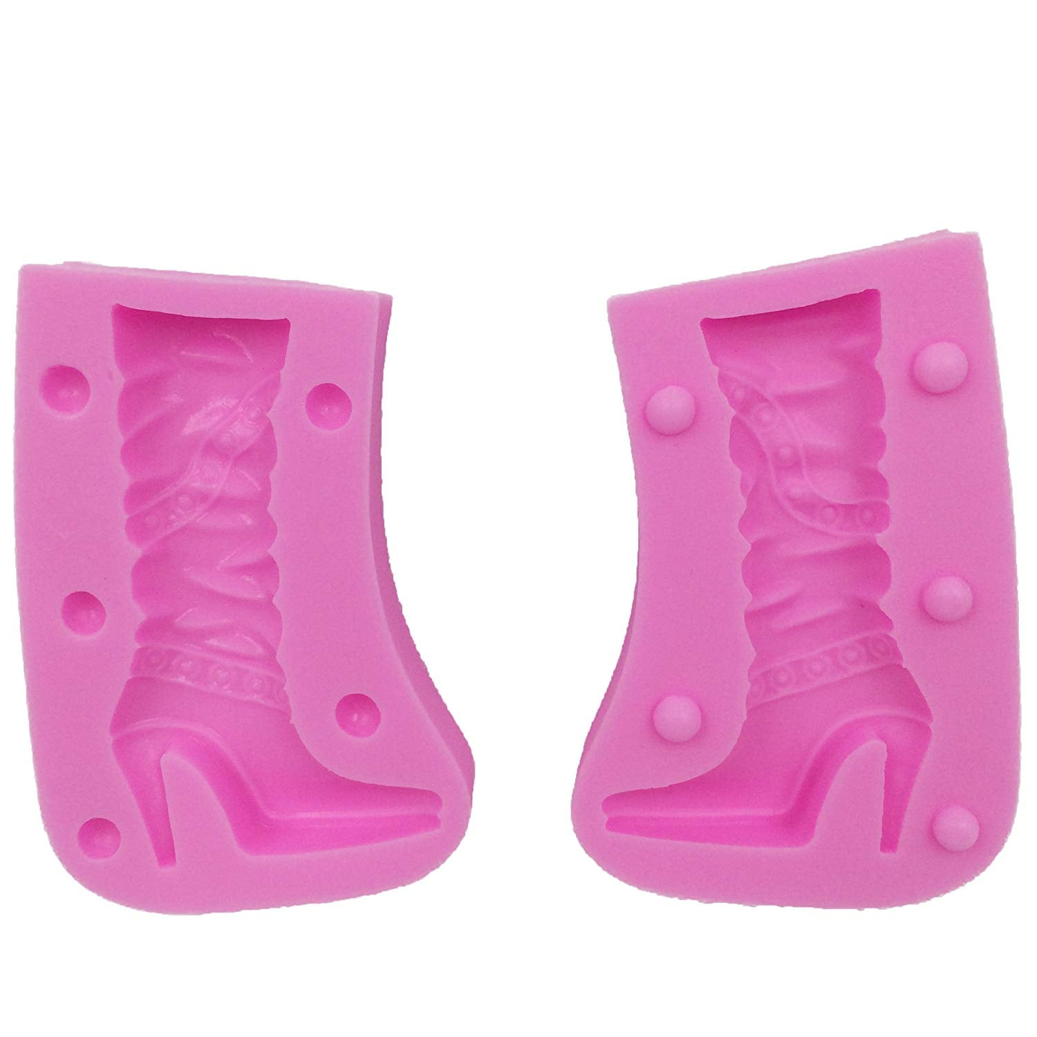 3D High Heel Boots Fondant Silicone Mold