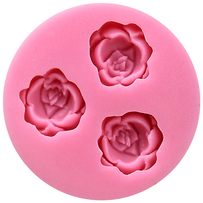 Tiny Blooming Rose Fondant Silicone Mold
