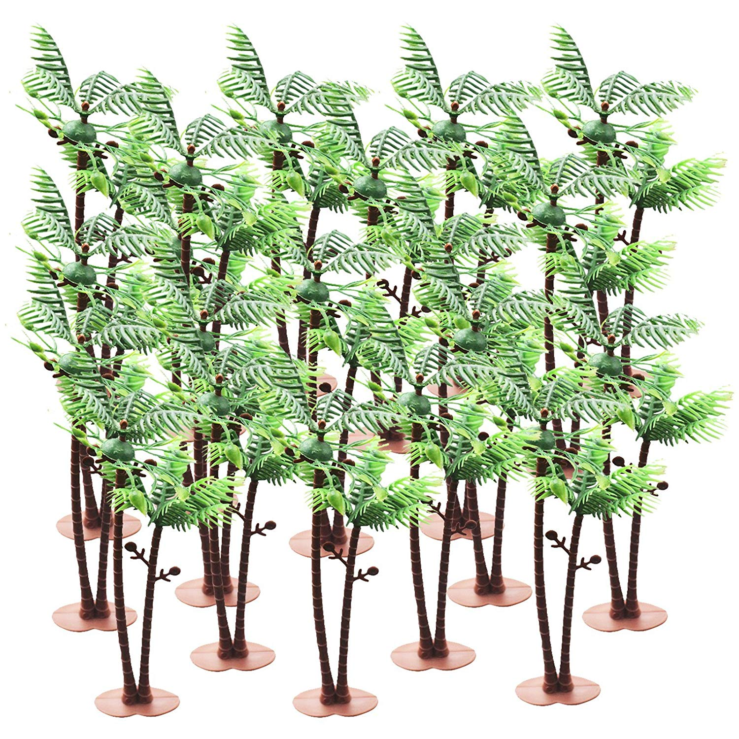 Coconut Palm Trees Set with Base 5.7inch