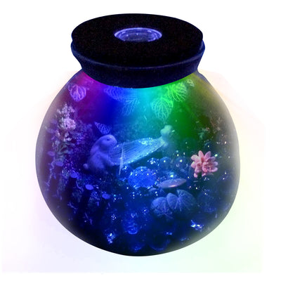 Round Glass Terrarium with LED Lid 5.9inch