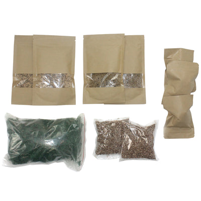 Terrarium Fairy Garden Set 10-kit Moss|Soil|Carbonized Charcoal
