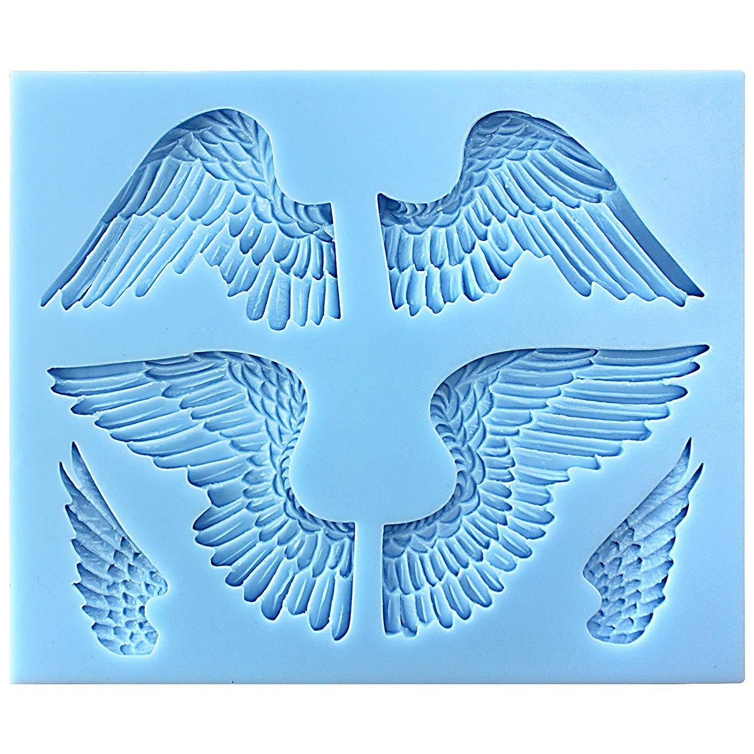 Assorted Angel's Wings Fondant Silicone Mold