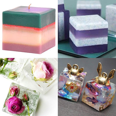 Assorted Cube Paperweight Epoxy Resin Mold Set 5-Count