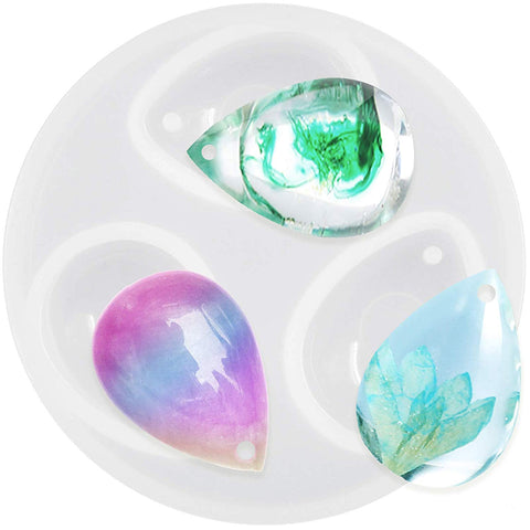 Small Drop Pendant Resin Mold with Hole