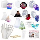 Silicone Molds and Resin Casting Supplies Pack 26-count