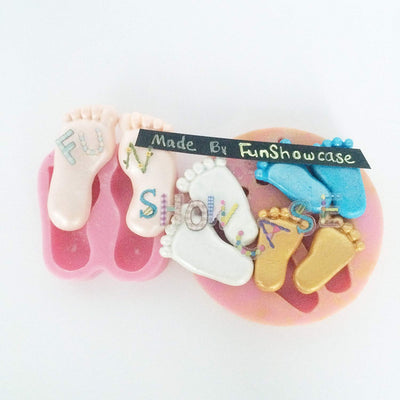 Assorted Baby Feet Mold Set