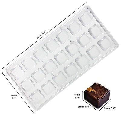 Assorted Geometric Plastic Chocolate Mold Set 6-Count