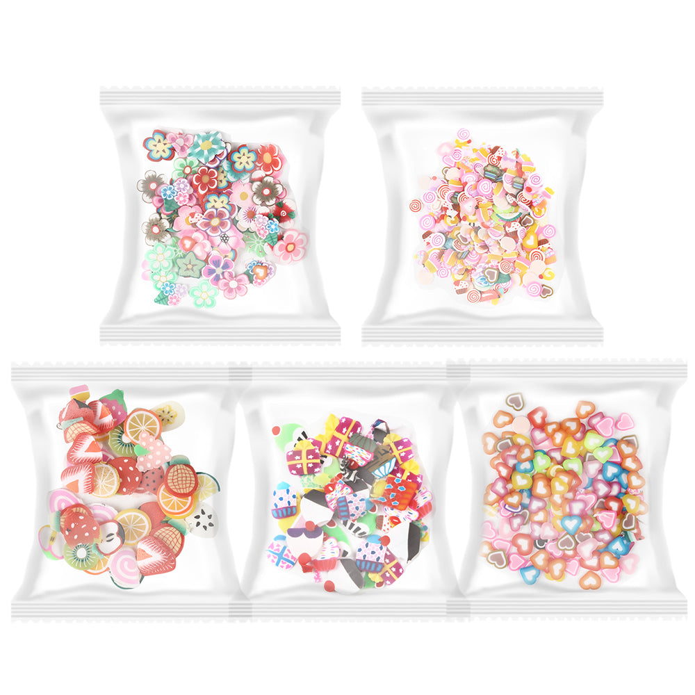 Fimo Slice 5-bag Fruits|Candy|Flower|Gifts|Heart
