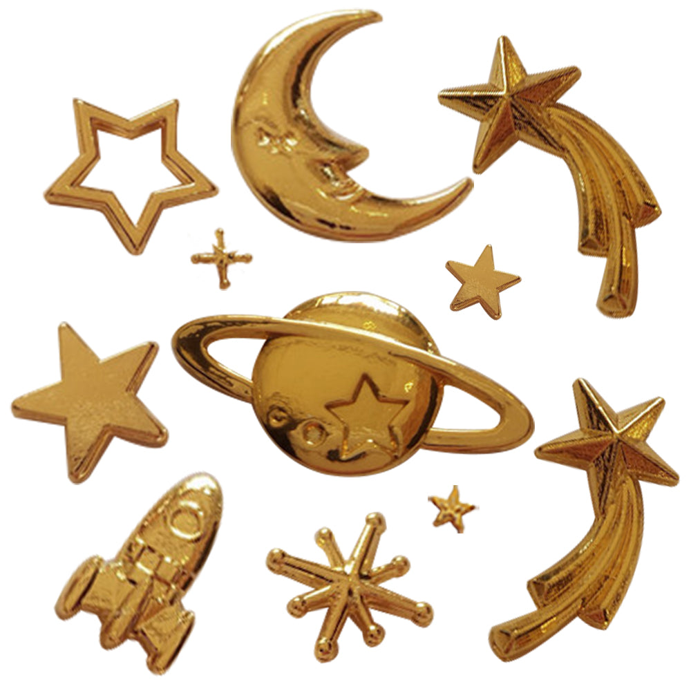Galaxy Metal Charms 11-count