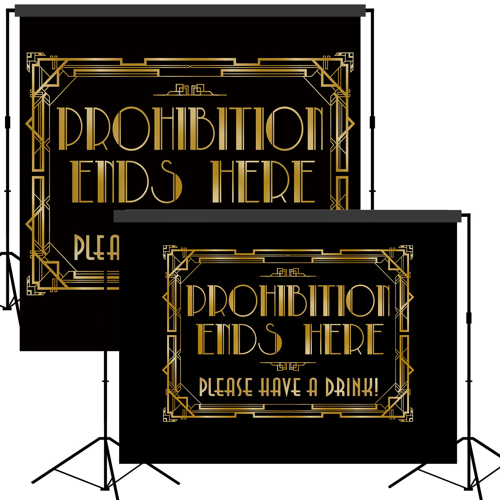 Roaring 20s Gatsby Prohibition Ends Here Backdrop