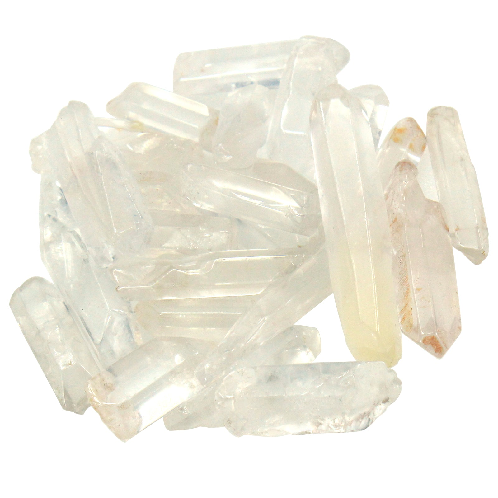 Clear Pointed Quartz Crystals 100g