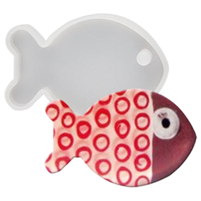 Fish Silicone Resin Tag Mold