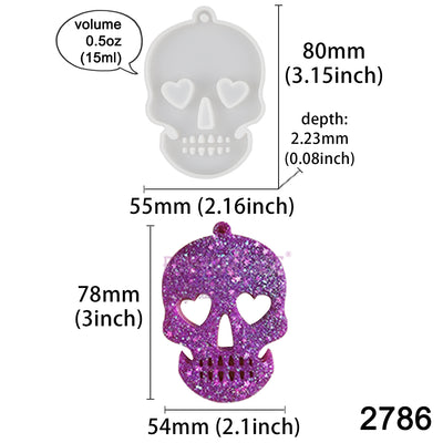 Skull Tag Silicone Resin Mold