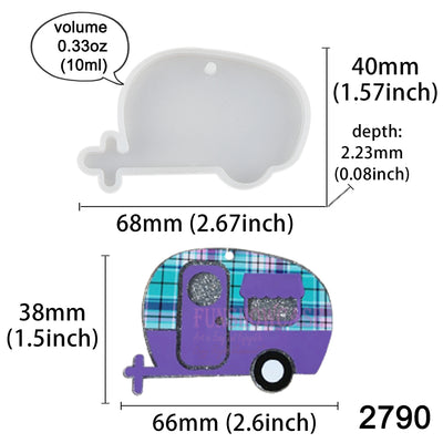 Camper Tag Silicone Resin Mold