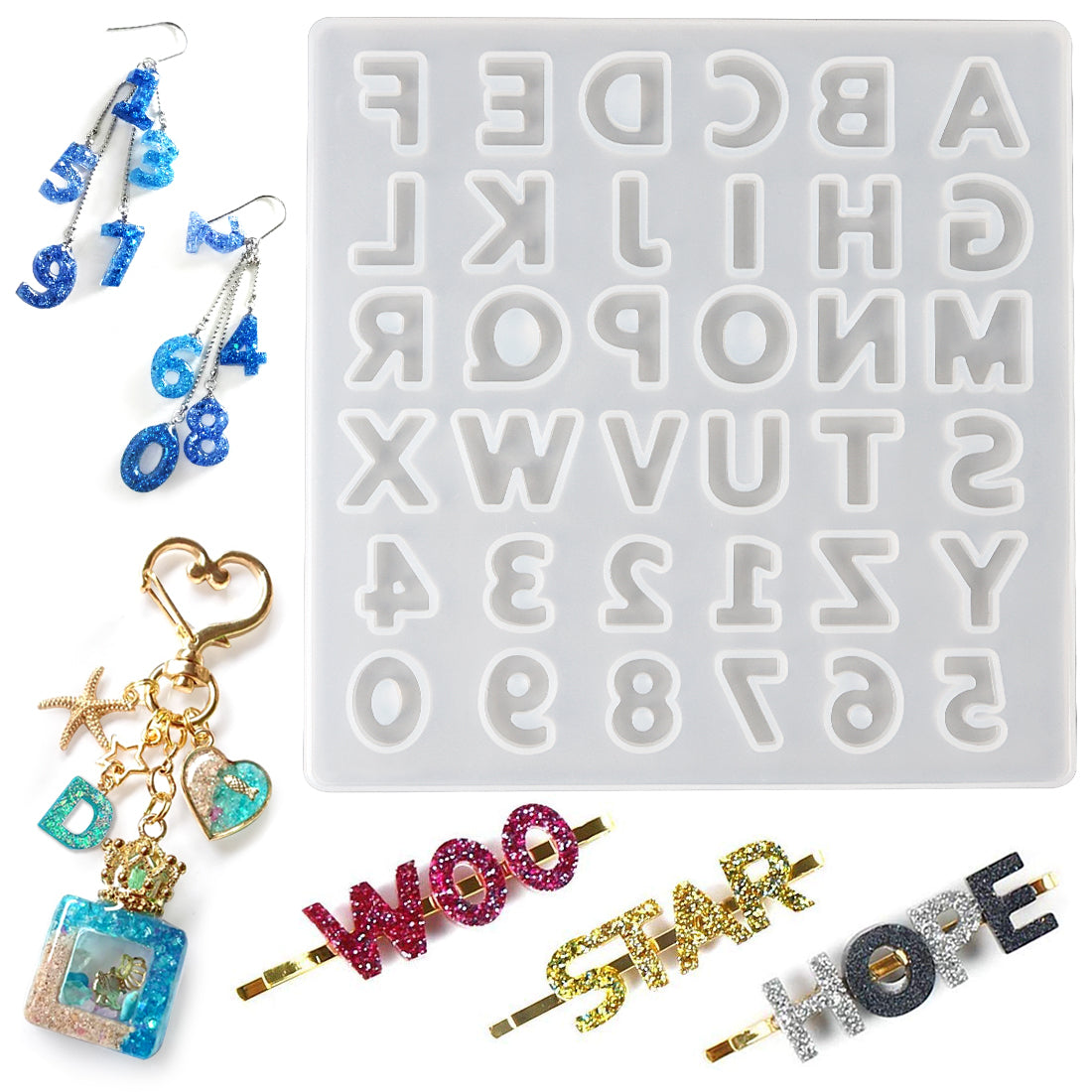 Alphabet Number Resin Jewelry Casting Mold