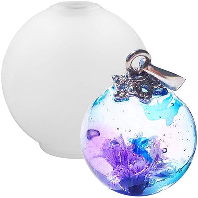 Sphere Pendant Resin Mold 1inch Easy Unmold Version