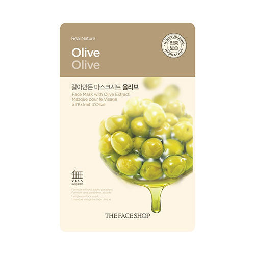 The Face Shop  Real Nature Olive Face Mask - Kim's Korean Beauty, LLC