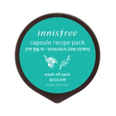 Innisfree Capsule Recipe Pack  Bija & Tea Tree (Washoff Pack)