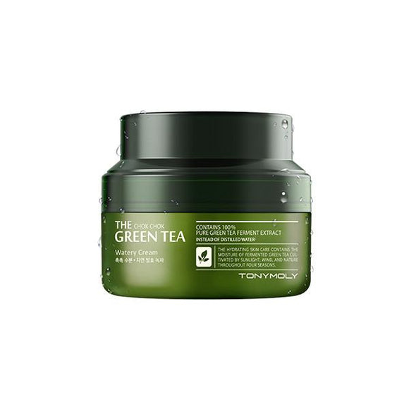 Tony Moly The Chok Chok Green Tea Watery Moisture Cream - Kim's Korean Beauty, LLC