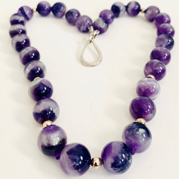 Sterling Silver & Amethyst Necklace
