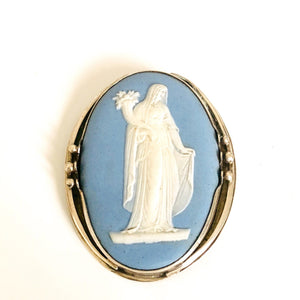 Antique Silver Wedgwood Brooch