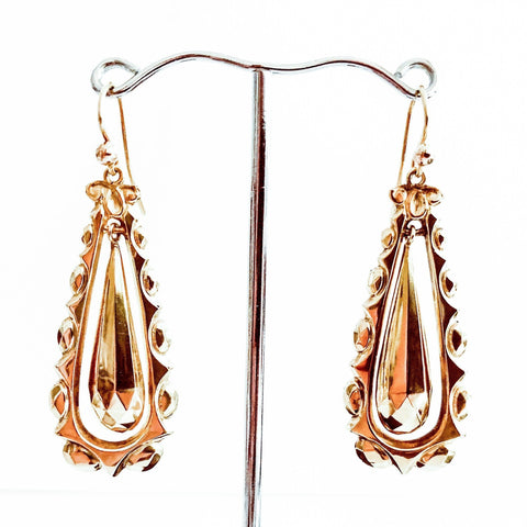 Victorian 9ct Gold Earrings
