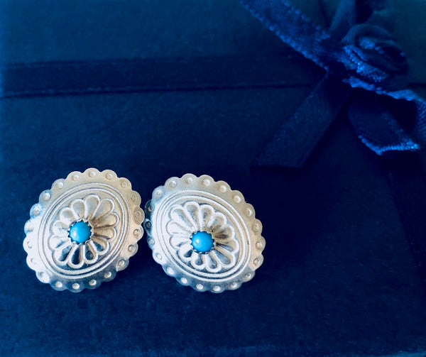 Vintage Sterling Silver & Turquoise Earrings