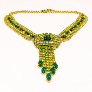 Vintage Emerald Green Necklace