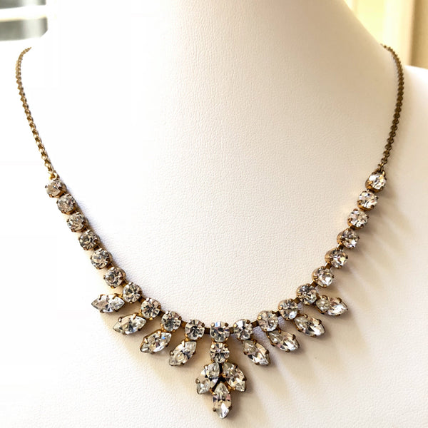 Vintage Rhinestone Paste Necklace