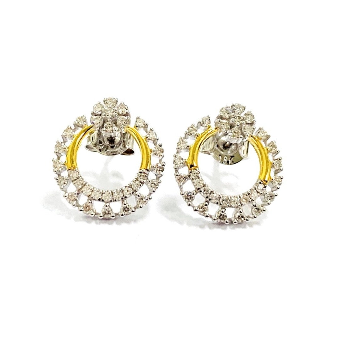 18ct Gold & Diamond Earrings