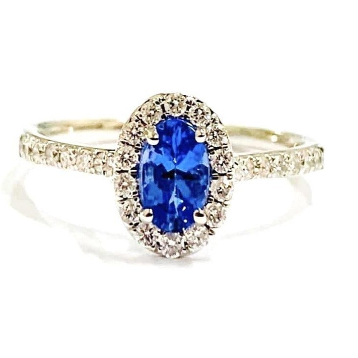 18ct Gold, Tanzanite & Diamond Ring
