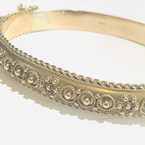 Edwardian 9ct Rose Gold Bangle