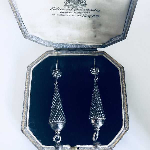 Victorian Silver & Cut Steel Earrings